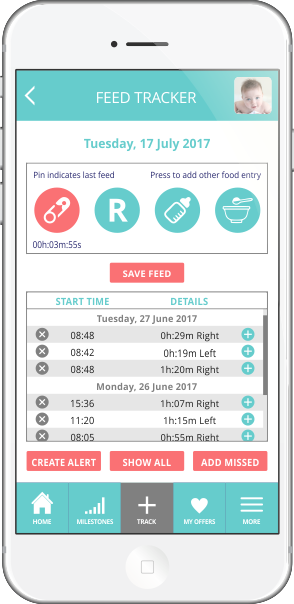 The Baby Diaries Feed Tracker