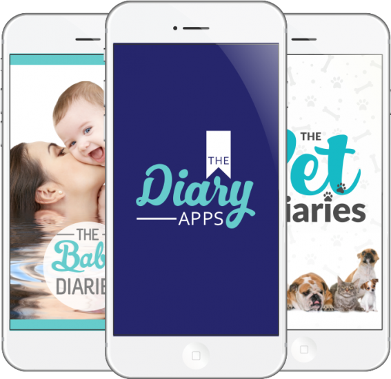 Diary Apps - 3 Phones 681px w