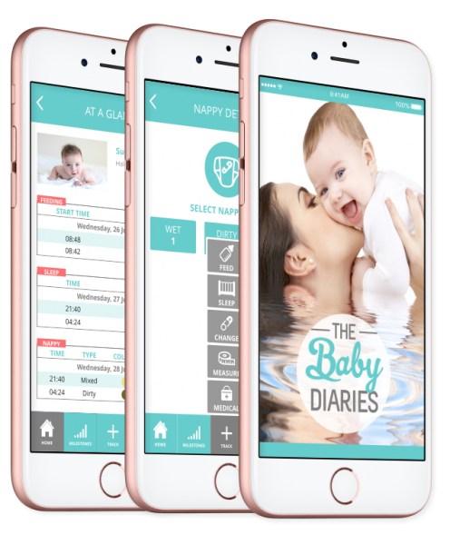 The Baby Diaries mobile app
